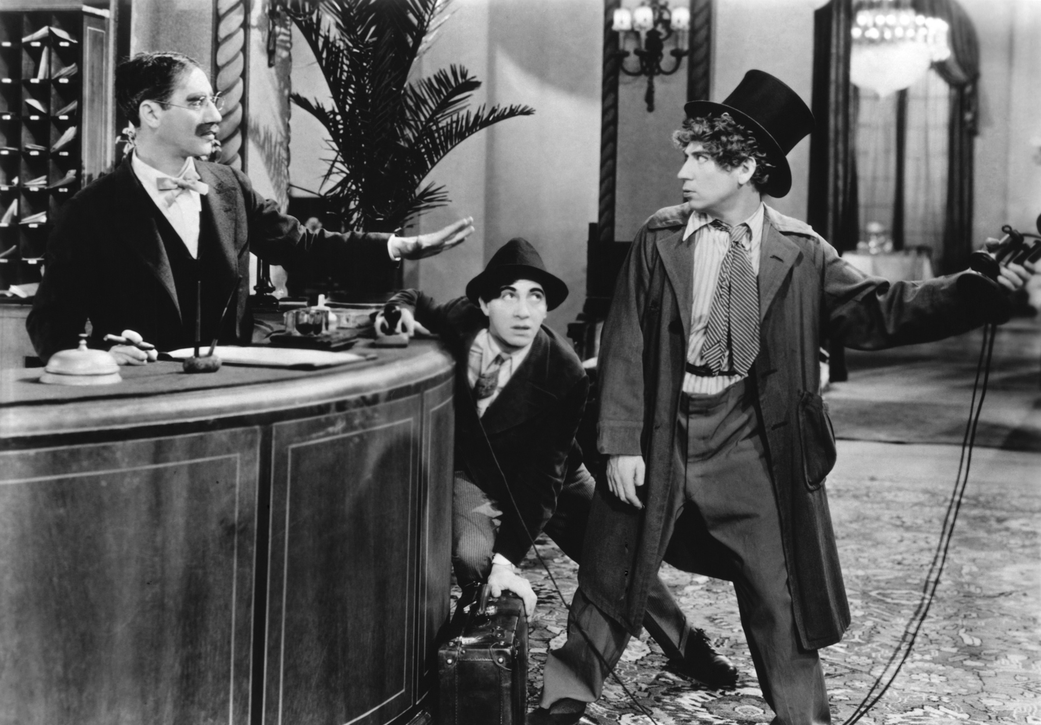 "The Marx Bros in their first film, ""The Cocoanuts"""