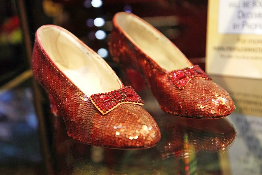 """Iconic ruby slippers from """"The Wizard Oz"""" unveiled at Solange Azagury-Partridge on November 14, 2011 in Beverly Hills, California."""