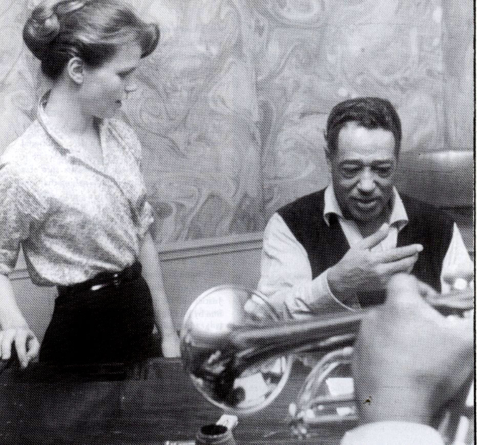 Lee Remick with Duke Ellington in the set of ANATOMY OF A MURDER.